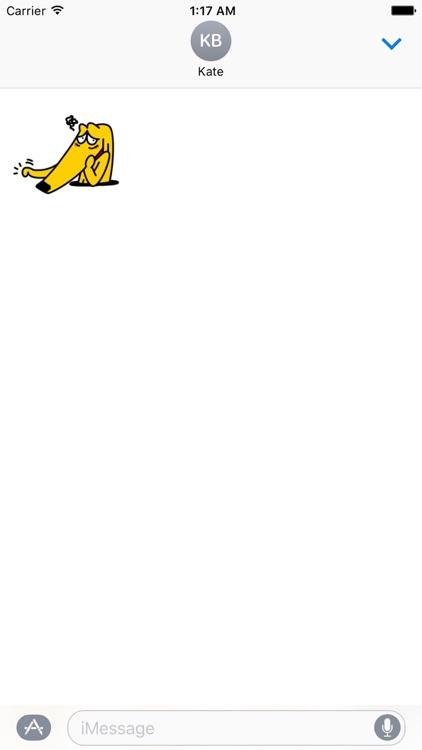 Afghan Hound Dog Emoji Sticker screenshot-3