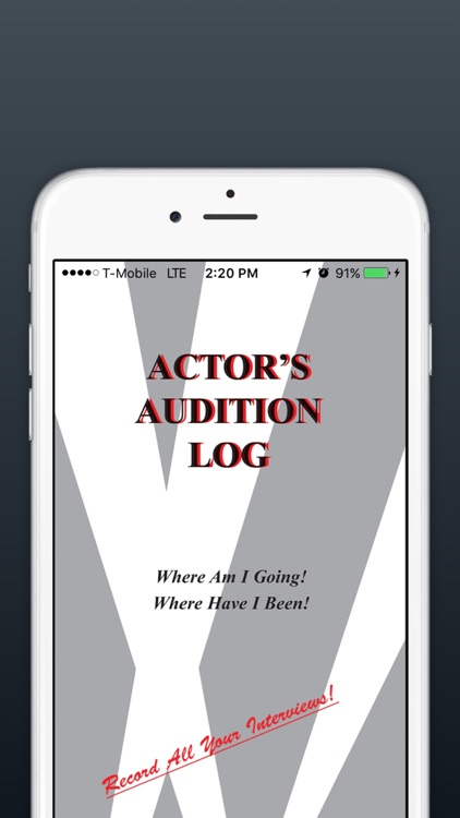 Actors Audition Log