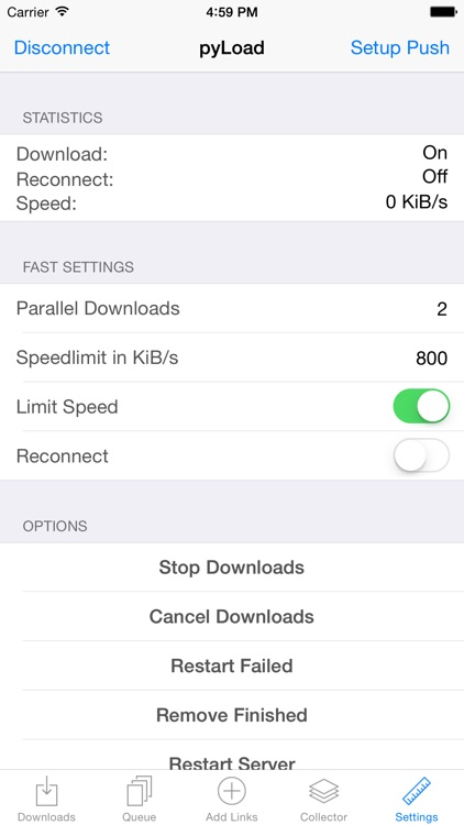 pyLoad for iOS