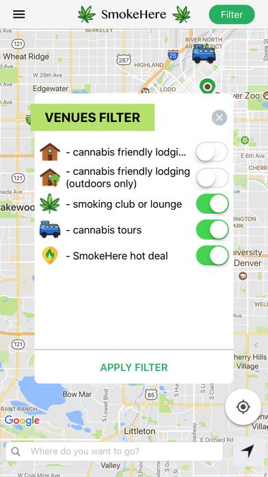 SmokeHere App screenshot two