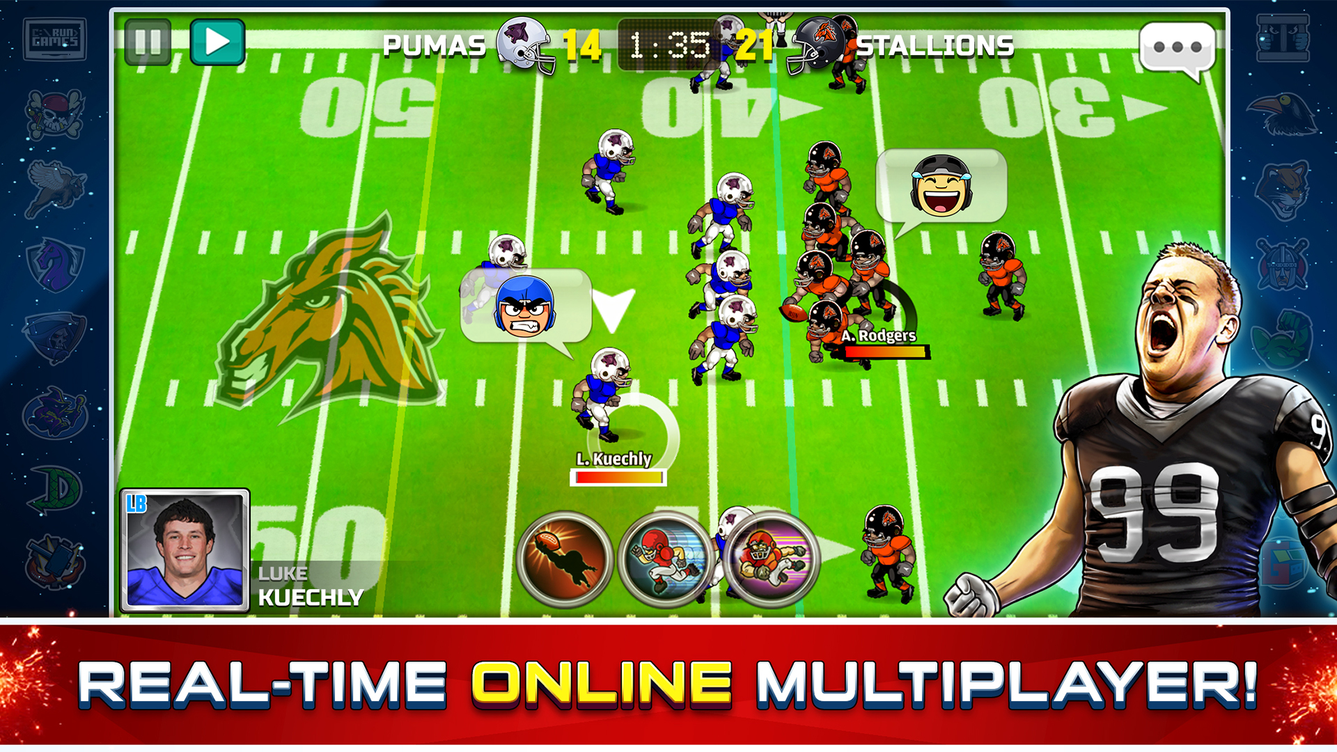 Football Heroes Pro Online - NFL Players Unleashed screenshot 11