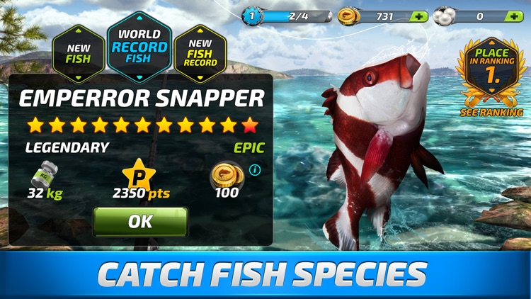 Fishing clash fish game 2017 by ten square games for Fishing game app