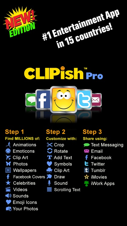 CLIPish Pro - Animations Emoji screenshot-0