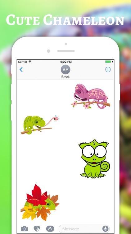 Chameleon Color Stickers screenshot-3