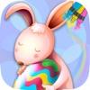 复活节兔子着色页