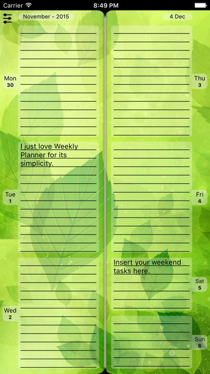 """Diary """"Weekly Planner"""""""