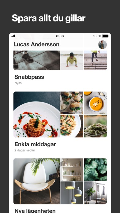 Screenshot for Pinterest in Sweden App Store