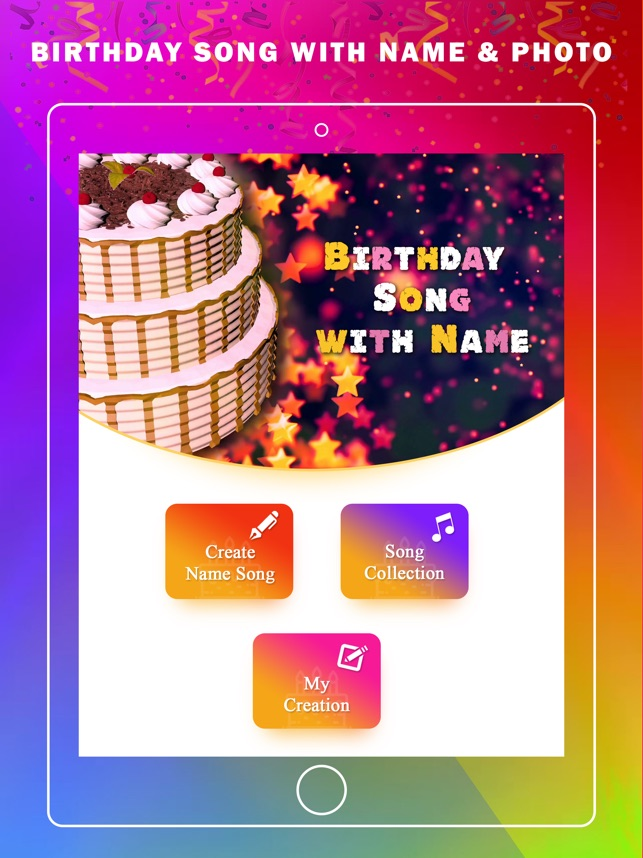 My Name Birthday Song & Photo on the App Store