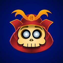 Cute Samurai Skull