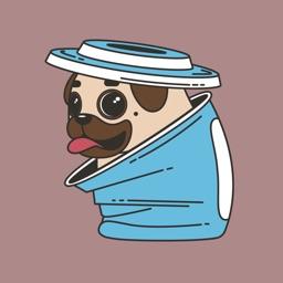 Funny Fatty Pugs Sticker