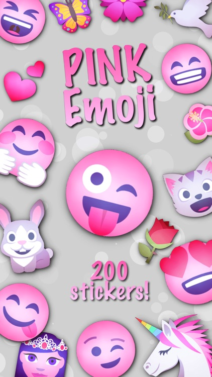 PINK Emoji • Stickers