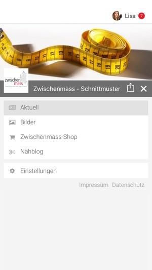 Zwischenmass - Schnittmuster im App Store