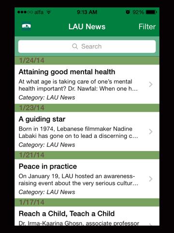 LAU Mobile Application - náhled