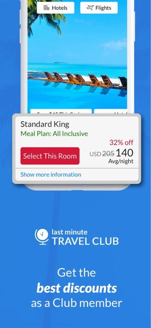 Last minute travel deals on the app store for Last minute travel california