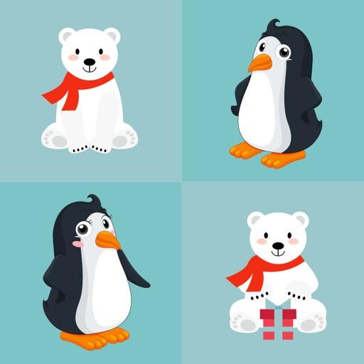 Polar Bear and Penguin Emojis