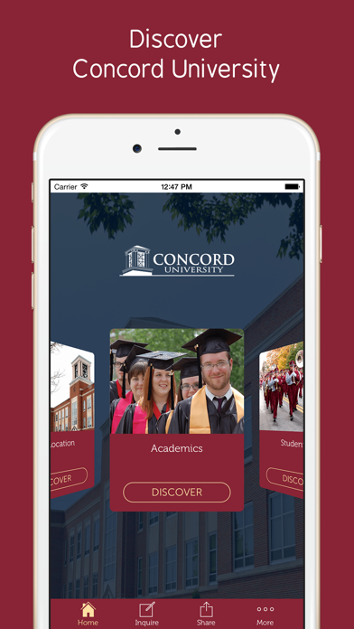 Concord University - Prospective Students App screenshot two
