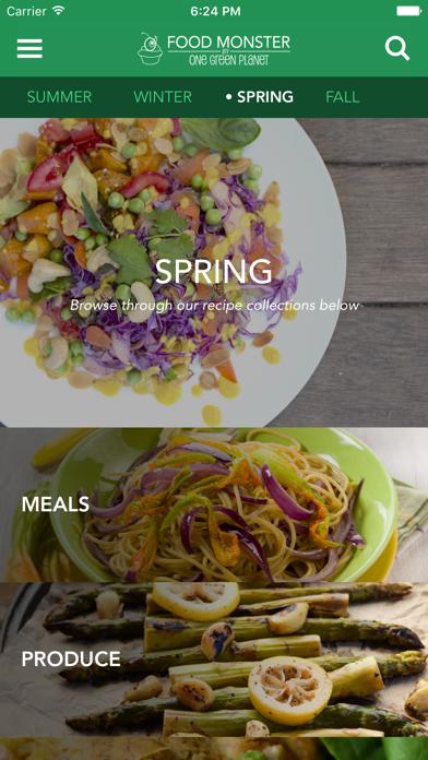 Food Monster - Vegan Recipes Screenshot