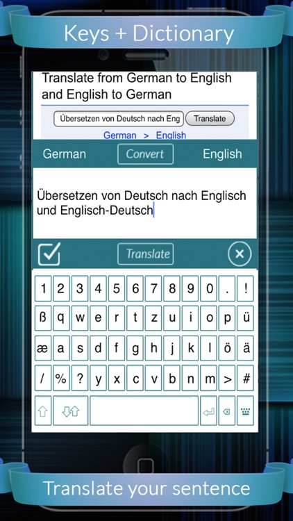 German Eng Dictionary + Keys