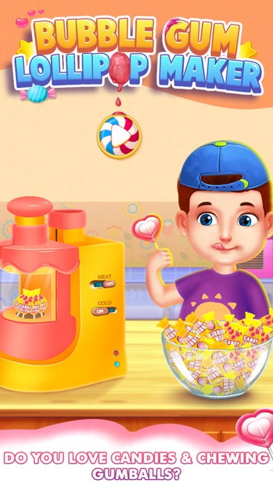 Bubble Gum Lollipop Maker screenshot one
