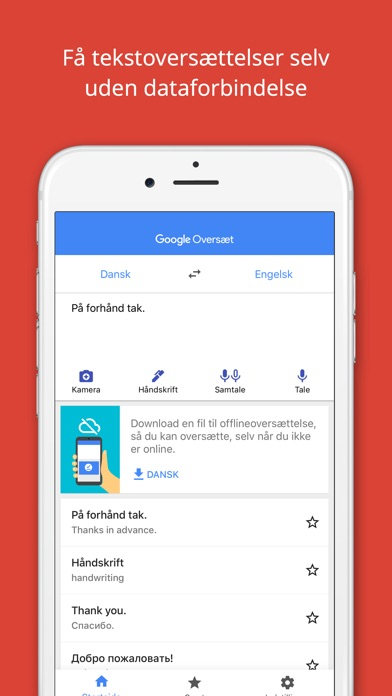 Screenshot for Google Oversæt in Denmark App Store