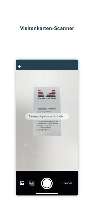 Visitenkarten Scanner Samcard