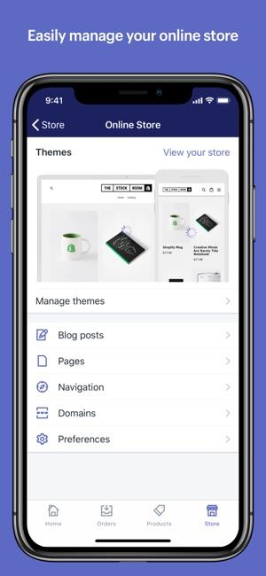 Shopify: Mobiler E-Commerce Screenshot