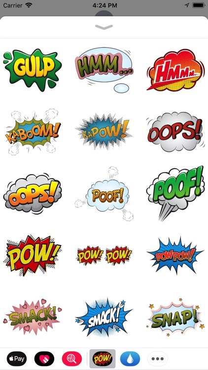 Comic Exclamation Sticker Pack