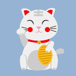 Animated LUCKy Cat Maneki Neko Money Stickers Pack
