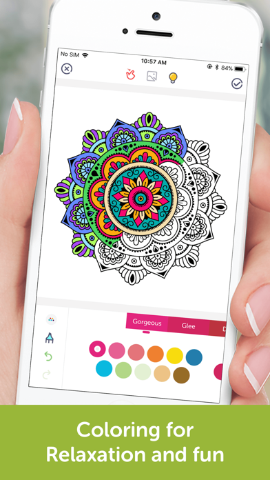 Coloring Book: Mandala, Pixel screenshot 1
