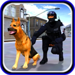 City Cop Dog Chase Runner