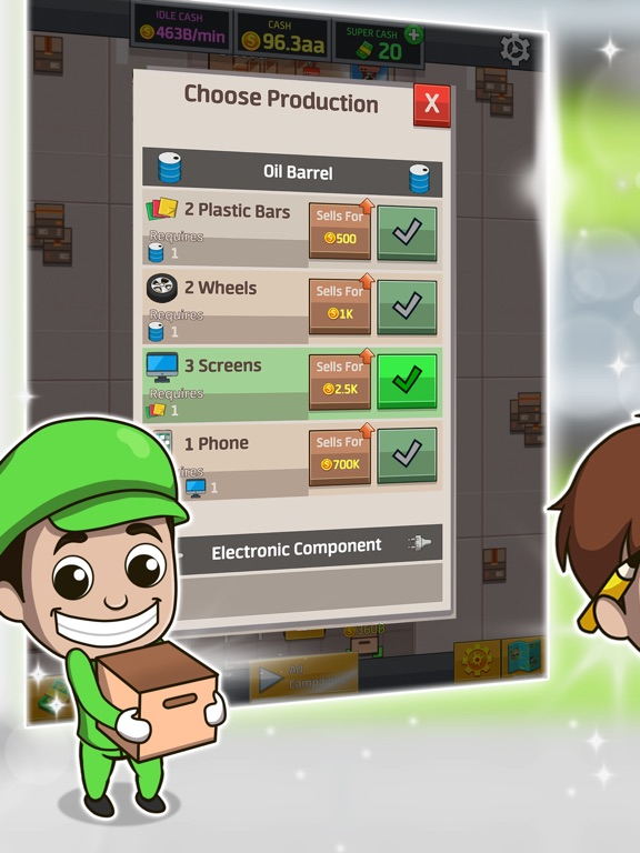 Idle Factory Tycoon для iPad