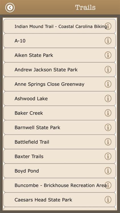 South Carolina -Camps & Trails screenshot-3