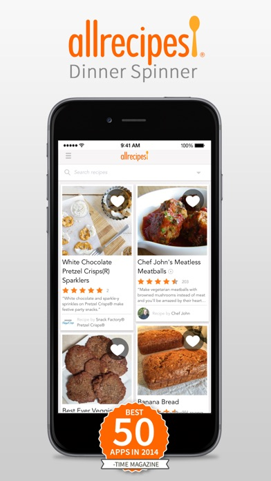 Allrecipes Dinner Spinner review screenshots