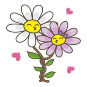 Flowers and Love Emoji Sticker app