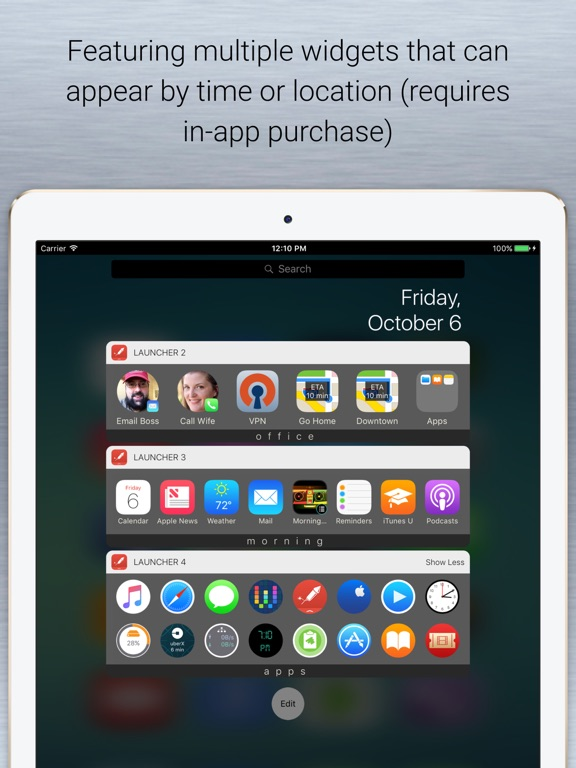 Launcher with Multiple Widgets Screenshots