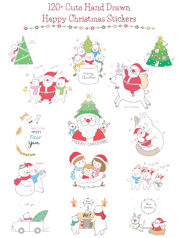 Cute Hand Drawn Christmas Pack screenshot 6