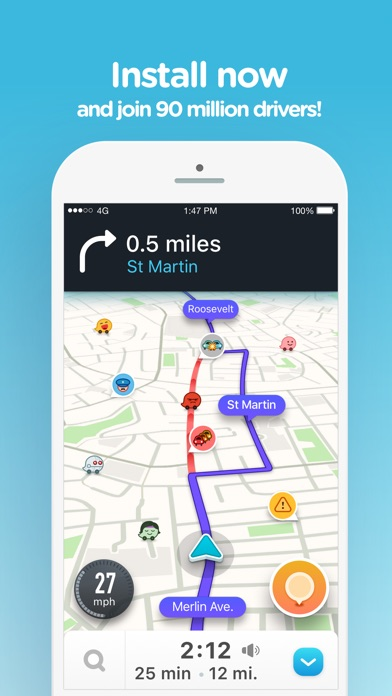 Screenshot for Waze カーナビ & 交通情報 in Japan App Store