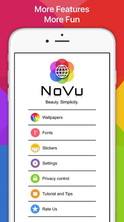 NoVu: GIF Keyboard Background screenshot-0