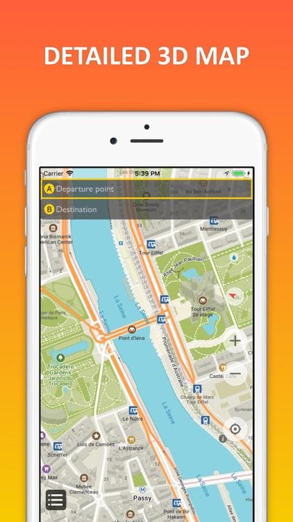 Paris offline map & nav screenshot-4