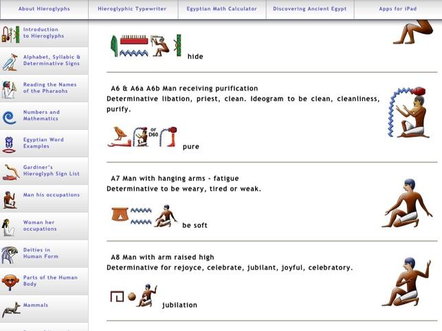 Egyptian Hieroglyphs On The App Store
