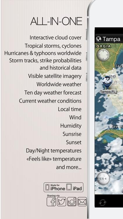 Hurricane - storm tracker + satellite radar screenshot-4