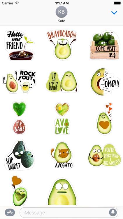 Adorable Avocado Emoji Sticker