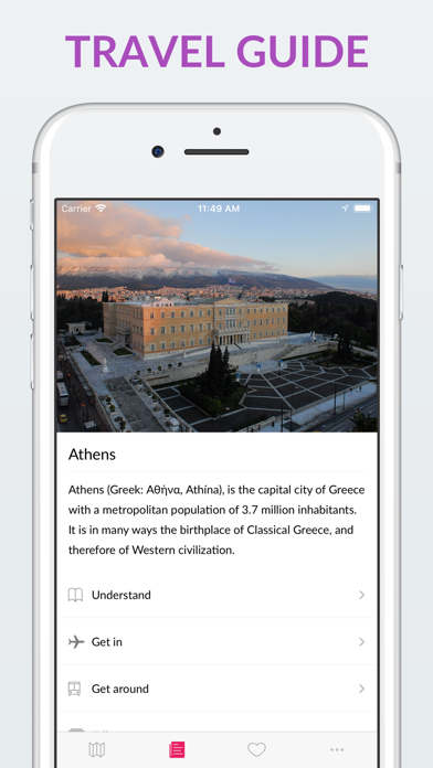 Athens Offline Map & Guide screenshot two