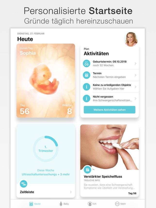 Schwangerschaft + Screenshot