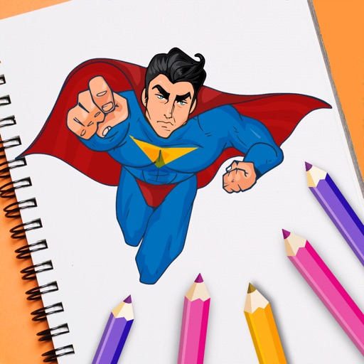 Superhero Coloring Book Pixie