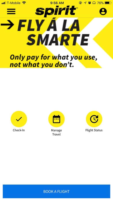 Spirit Airlines Check-in for Windows