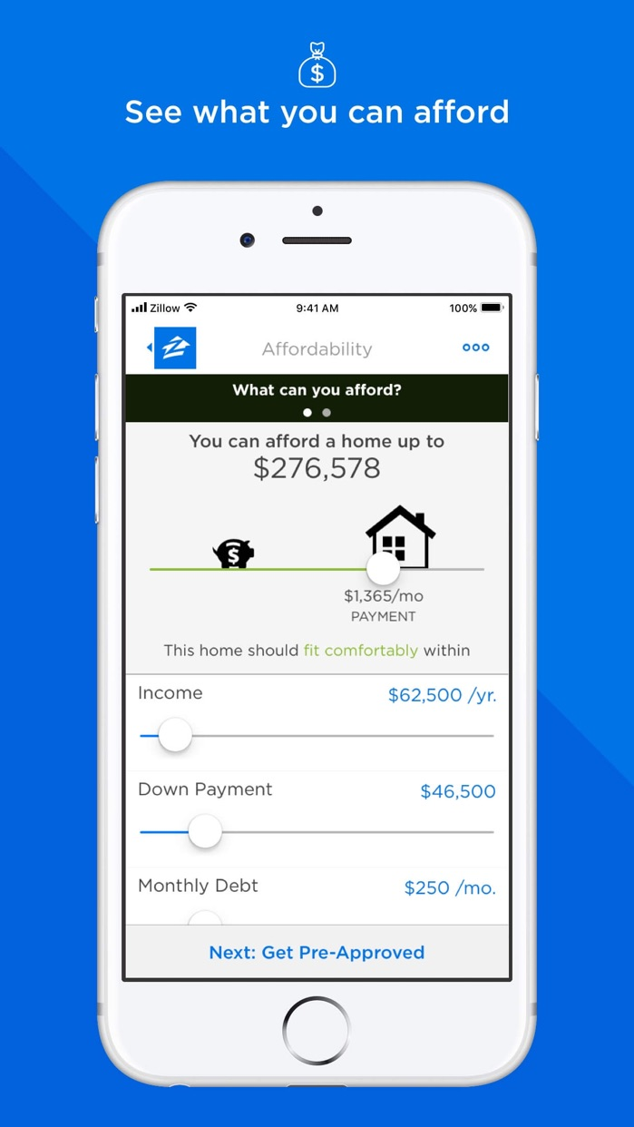Zillow Mortgages Screenshot