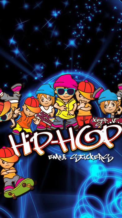 Screenshot for Hip-hop Emoji Stickers in Japan App Store