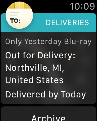 Deliveries: a package tracker Screenshot