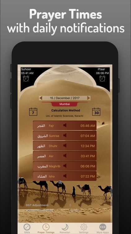 Islamic Qibla - Prayer Times screenshot-1